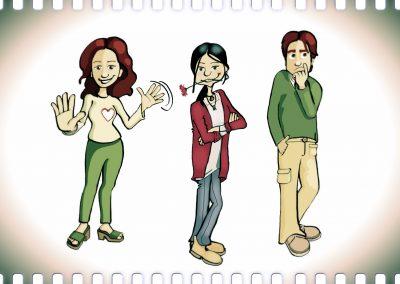 Algunos personajes